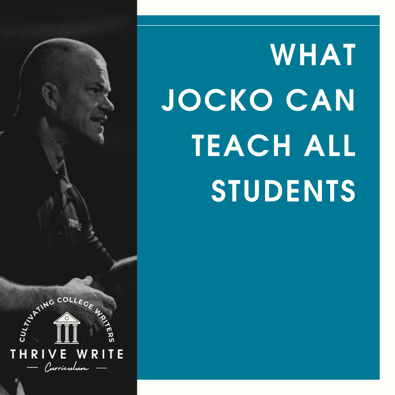 What Jocko Can Teach All Students
