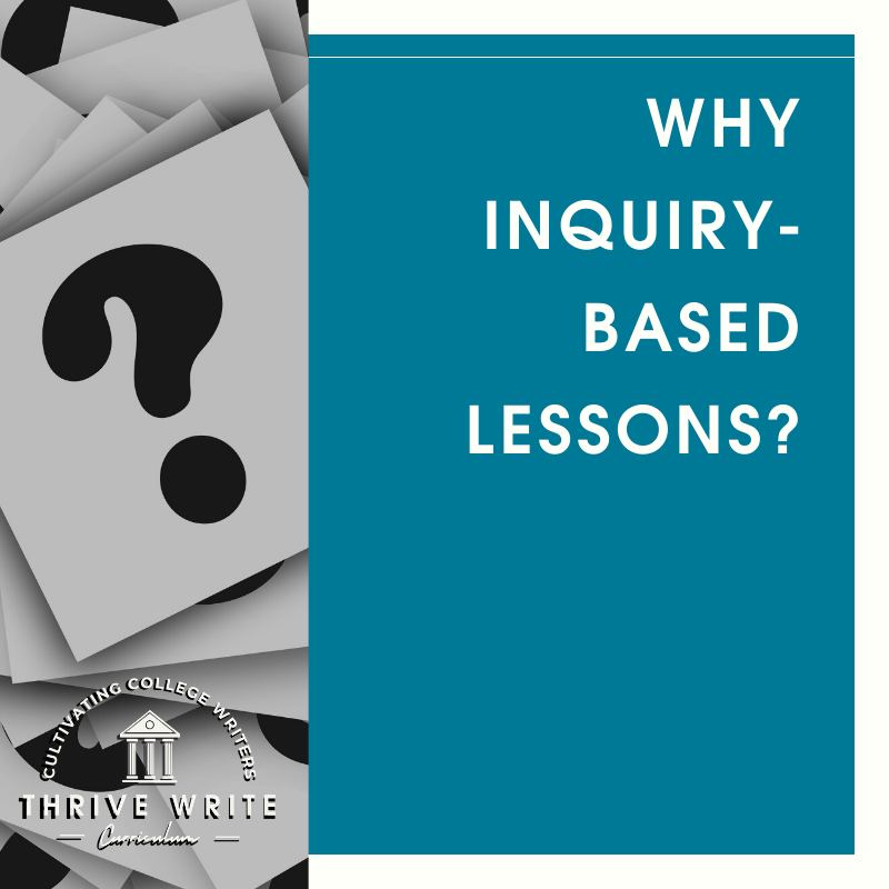 Why Inquiry-Based Lessons?